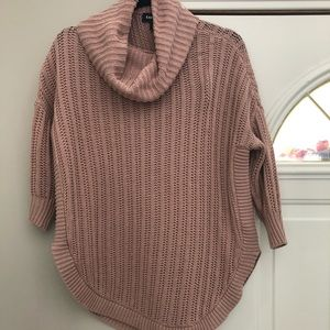 Express Blush Cowl Neck 3/4 sleeve sweater small